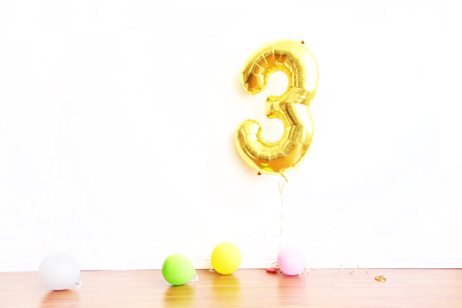 Gold Number Balloon - 2 Sizes