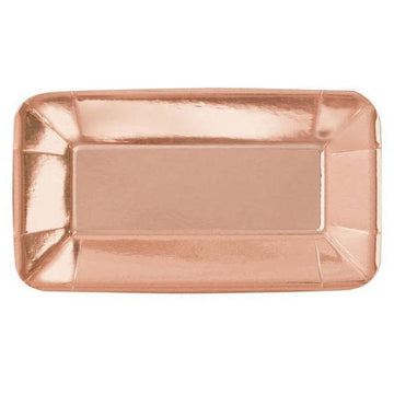 Rose Gold Rectangle Plates
