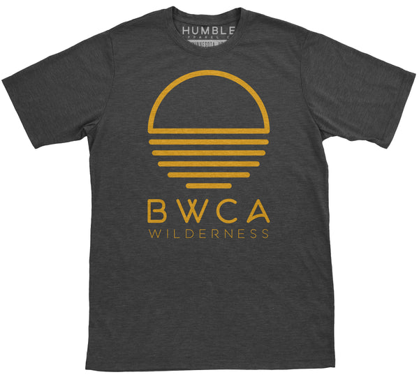 BWCA Wilderness Sunset T-Shirt Unisex Charcoal Orange