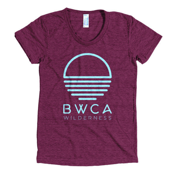 BWCA Sunset Wilderness Women's T-Shirt - Cranberry, Shirts - Humble Apparel Co