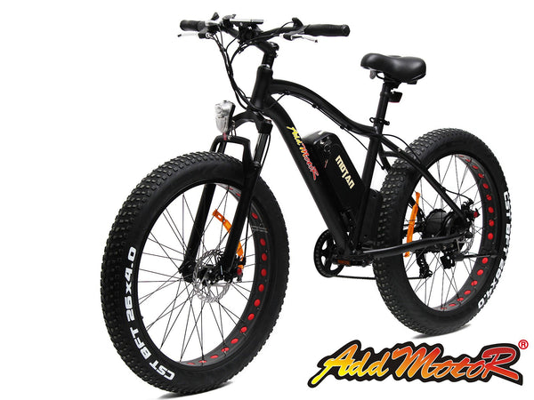 Addmotor Motan Platinum Black 500W 48V Fat Tire Electric Bicycle