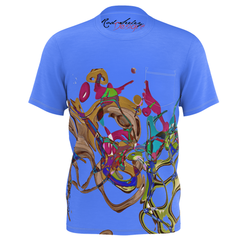 Color Keys Blue - Men's Pocket T