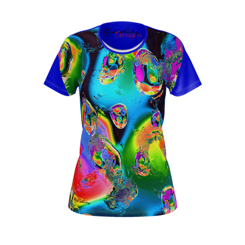 Bursting Colored Eggs Blue- Women's Tee