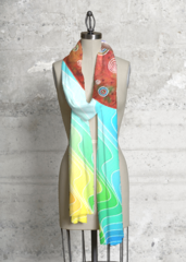 Colorful Waves - Modal Scarf