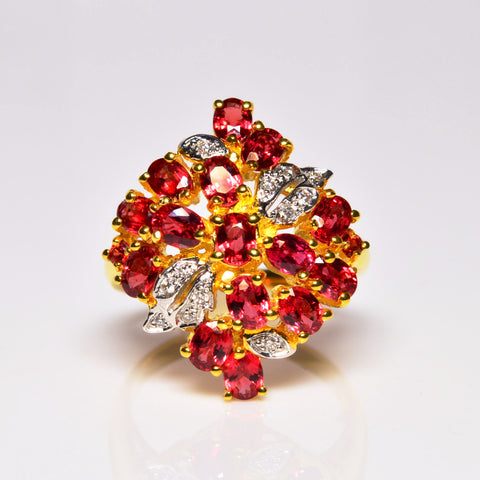 3.33 ctw Amata Ruby & Diamond 10K Yellow Gold Ring