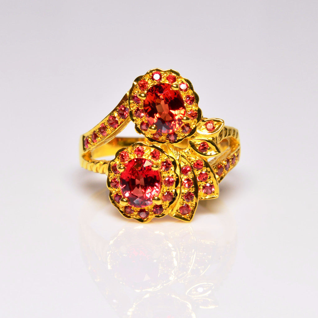 2.00 ctw Amata Ruby 10K Yellow Gold Ring