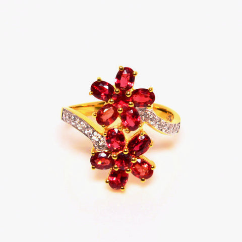 2.40 ctw Amata Ruby & Diamonds 10K Yellow Gold Ring