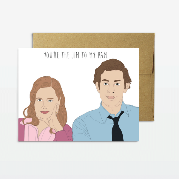 Jim To My Pam Greeting Card