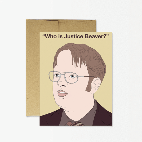 Dwight Justice Beaver Greeting Card