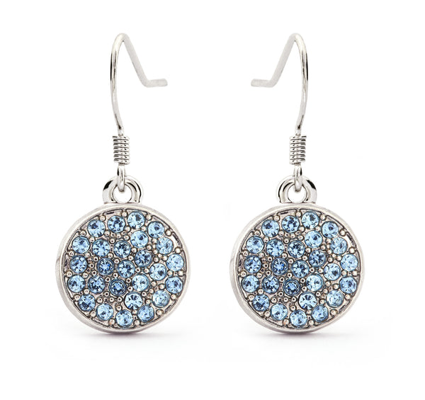 Aquamarine Crystal Drop Earrings - Stevens Jewellers Letterkenny Donegal