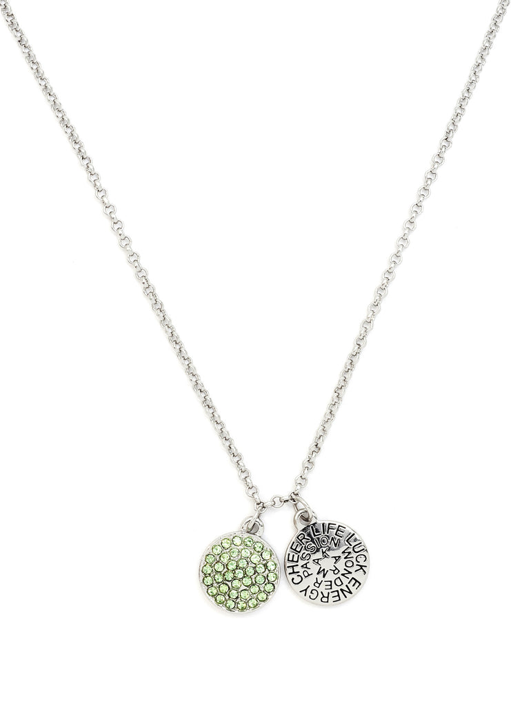 Peridot Crystal Necklace - Stevens Jewellers Letterkenny Donegal