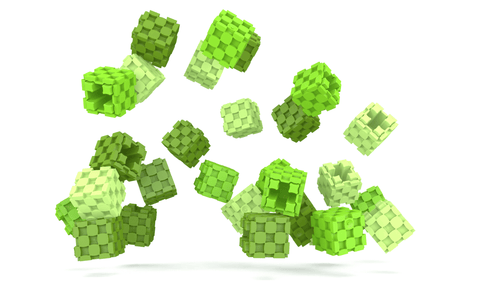 Lini cube Shades of Green drop image