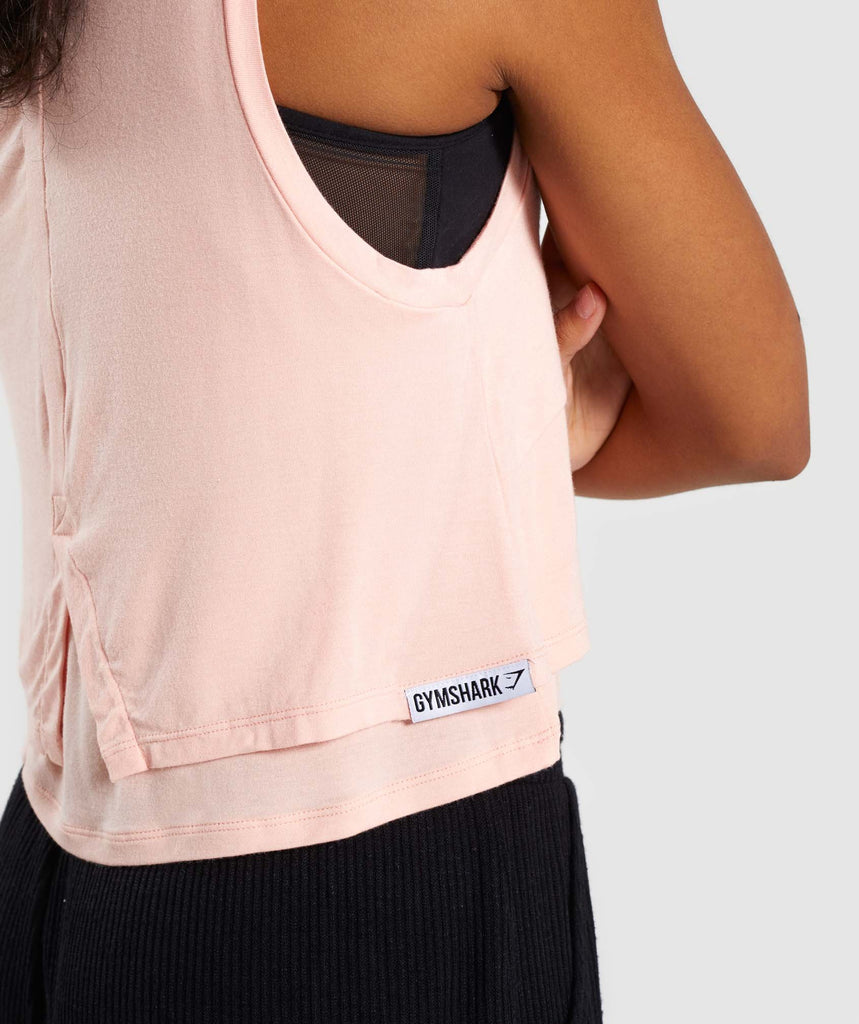 Gymshark Relaxed Crop Top - Washed Peach 6