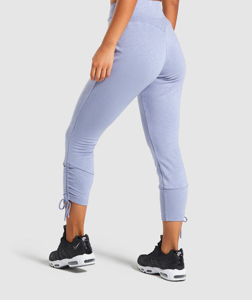 Gymshark Ruched Slim Fit Joggers -Steel Blue 4