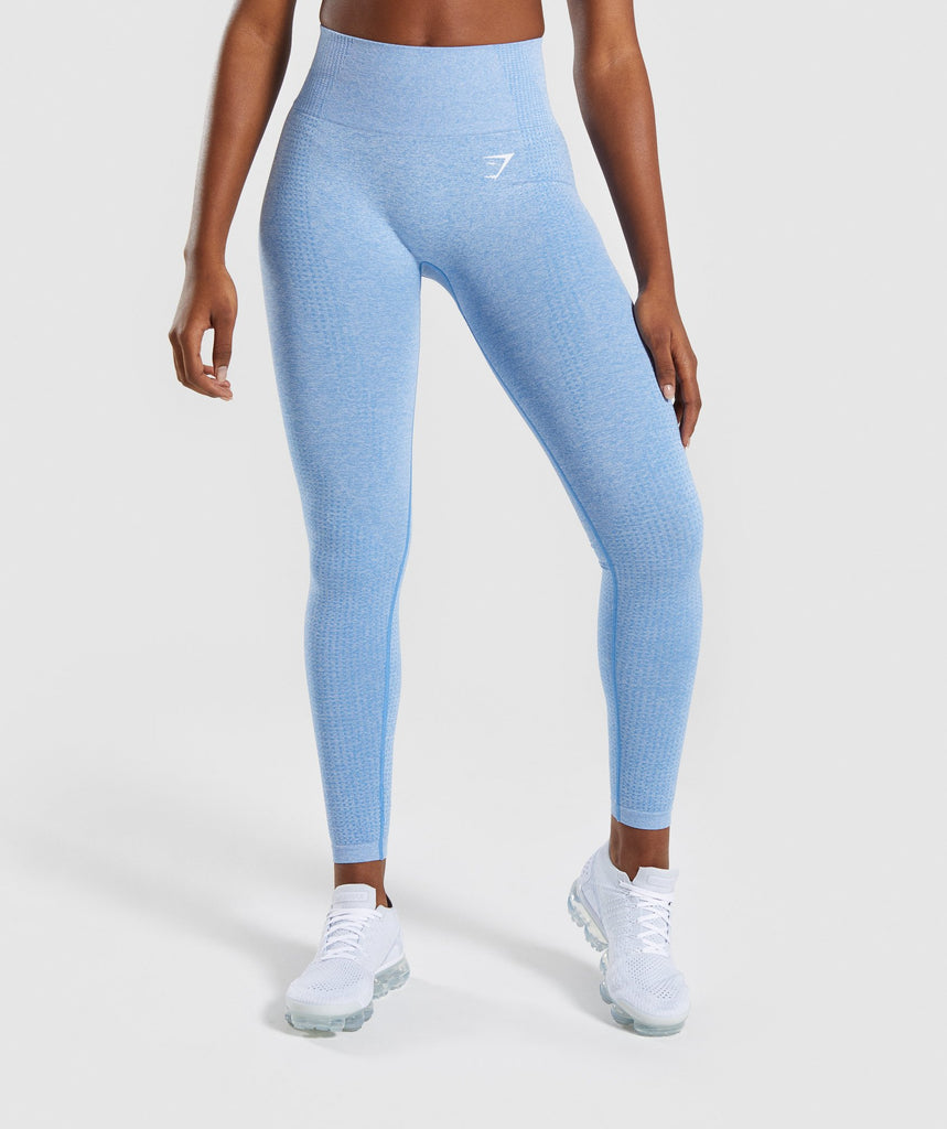 Gymshark Vital Seamless Leggings - Blue 4