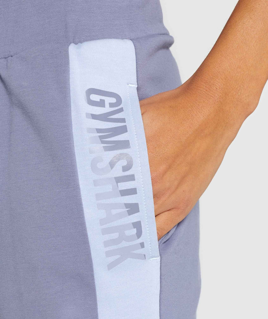 Gymshark Colour Block Joggers - Steel Blue Tones 6
