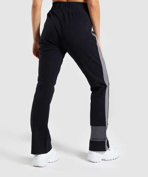 Gymshark Colour Block Joggers - Black/Charcoal/Smokey Grey 1