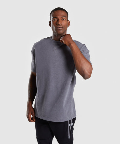 Gymshark Drawcord Sweat T-Shirt - Smokey Grey Marl 4