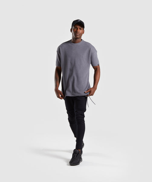 Gymshark Drawcord Sweat T-Shirt - Smokey Grey Marl 3