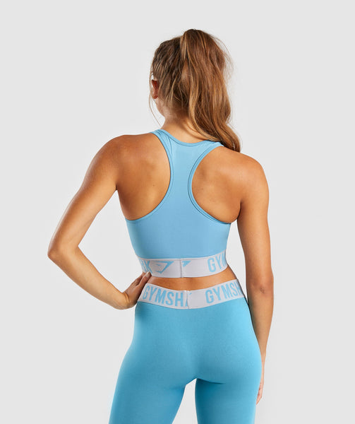 Gymshark Fit Sports Bra - Dusky Teal/Light Grey 1