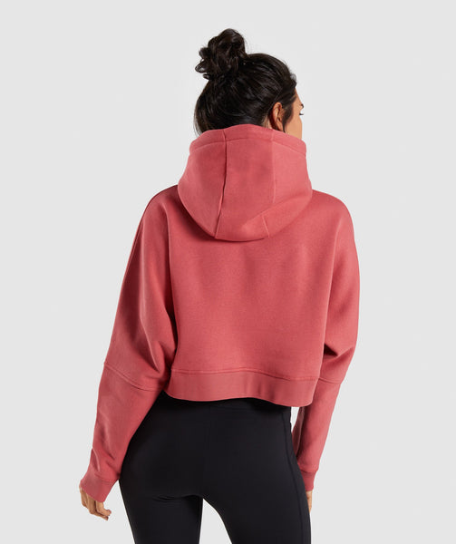 Gymshark Repeat Print Crop Pullover - Rose Brick 4