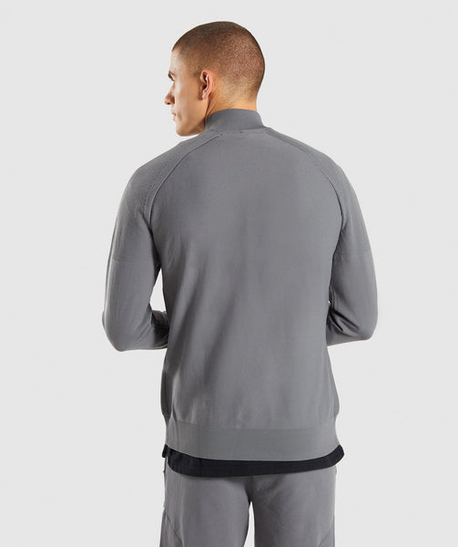 Gymshark True Knit Zip Up - Smokey Grey 1