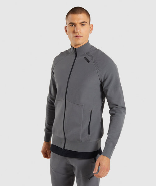 Gymshark True Knit Zip Up - Smokey Grey 2