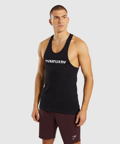 Gymshark Divide Stringer - Black 4