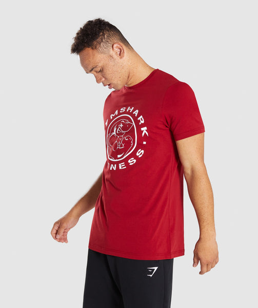 Gymshark Legacy T-Shirt - Full Red 3