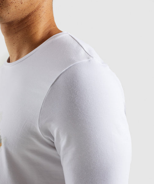 Gymshark Etch T-Shirt - White 4