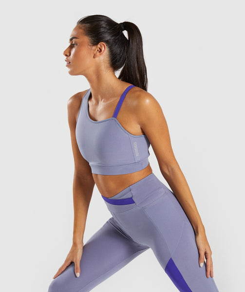Gymshark Asymmetric Sports Bra - Steel Blue/Indigo 2
