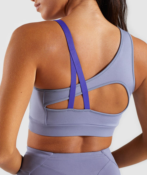 Gymshark Asymmetric Sports Bra - Steel Blue/Indigo 4