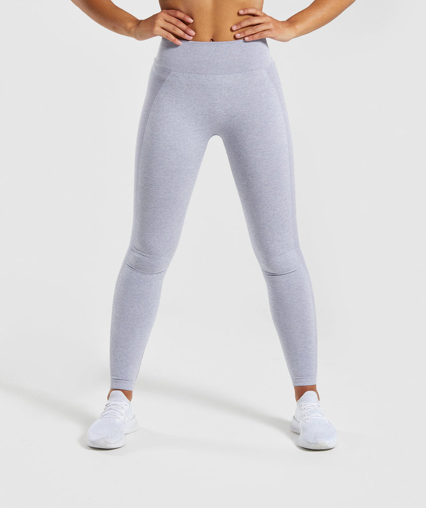 Gymshark Flex High Waisted Leggings - Blue/Grey 1