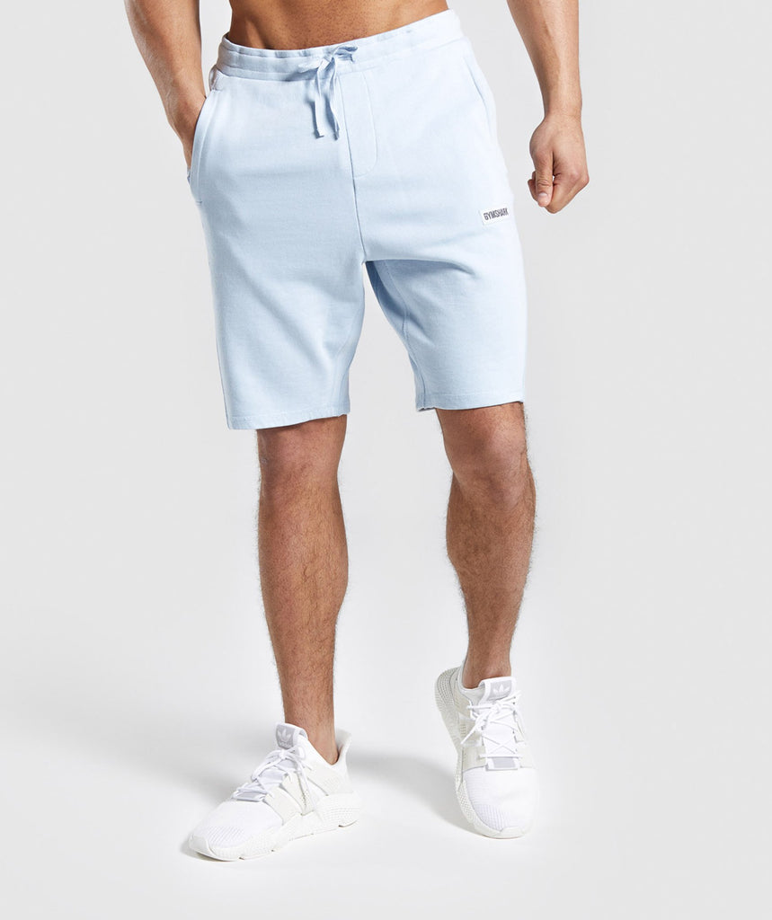 Gymshark Laundered Shorts - Light Blue 1