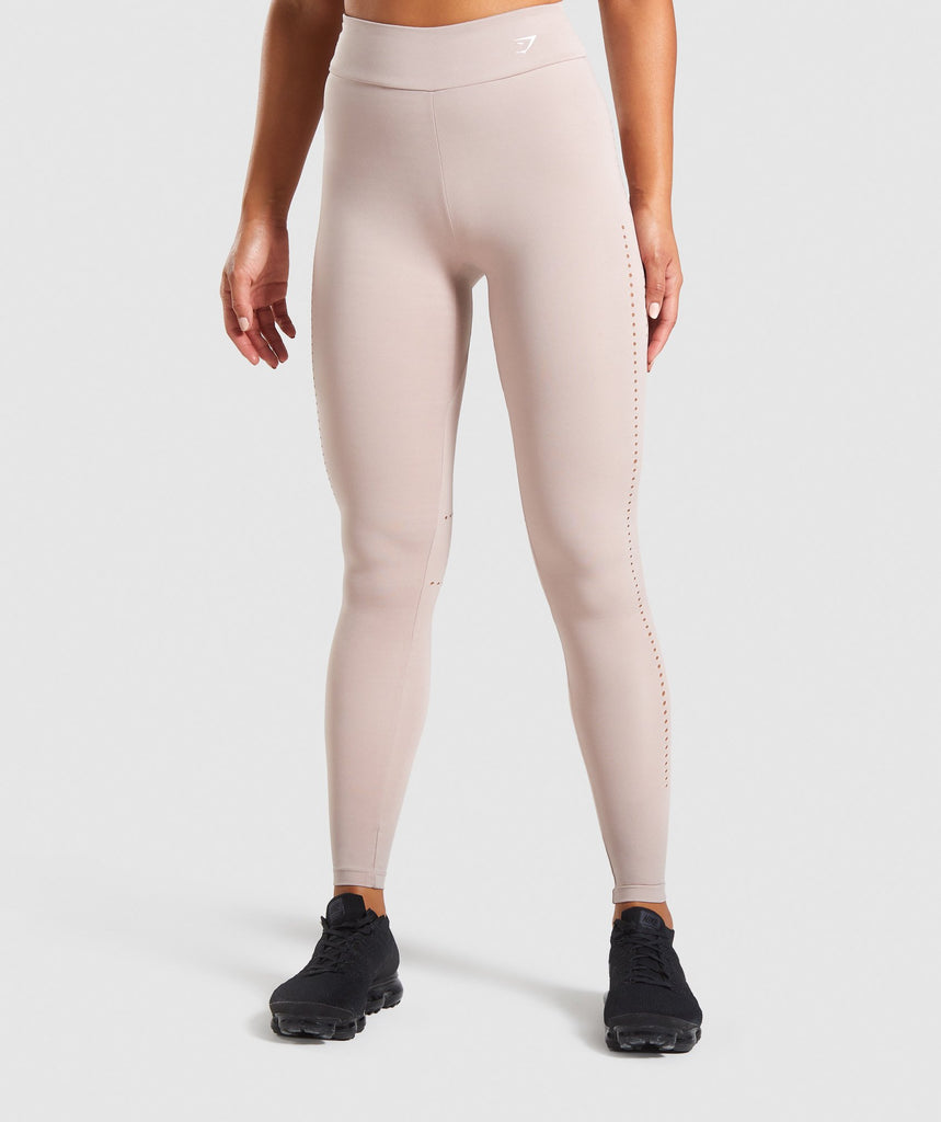Gymshark Laser Cut Tights - Taupe 1