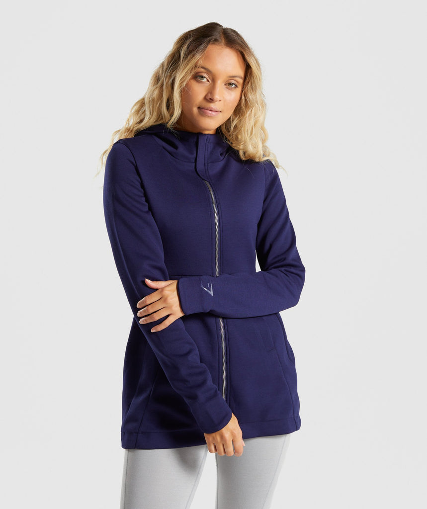 Gymshark Longline Jacket - Evening Navy Blue 4