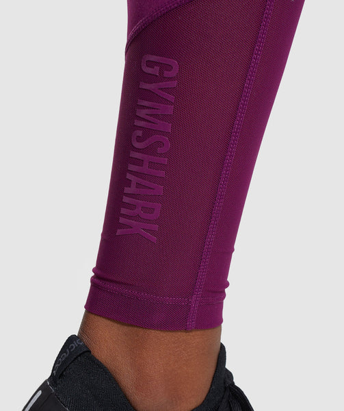 Gymshark Mesh Layer Leggings - Deep Magenta 3
