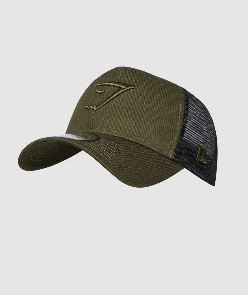 Gymshark New Era Mesh Trucker - Green 1