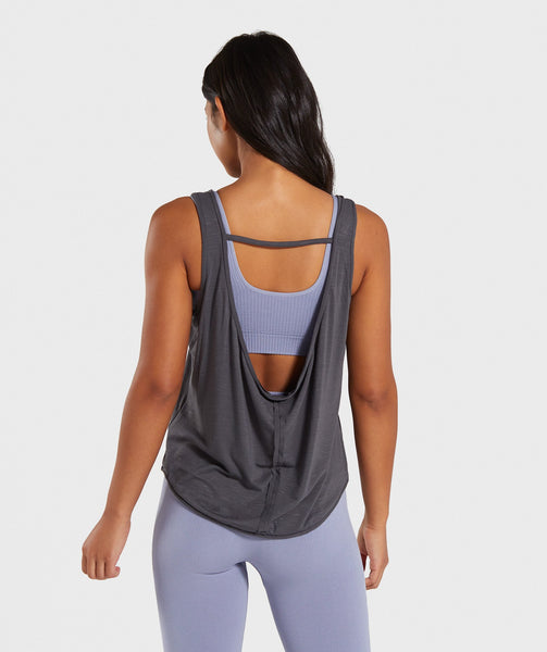 Gymshark Power Down Vest - Charcoal Marl 1