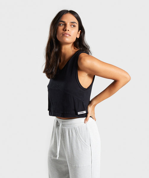 Gymshark Relaxed Crop Top - Black 4