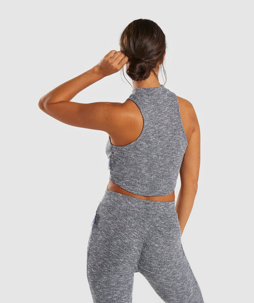 Gymshark Slounge Crop Top - Charcoal Marl 1