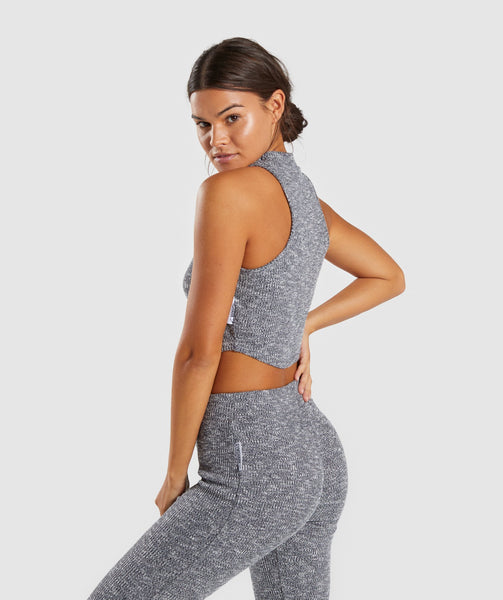 Gymshark Slounge Crop Top - Charcoal Marl 2