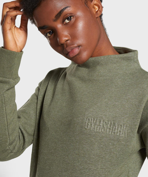 Gymshark So Soft Sweater - Khaki Marl 4
