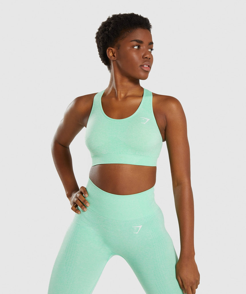 Gymshark Vital Seamless Sports Bra - Green 1
