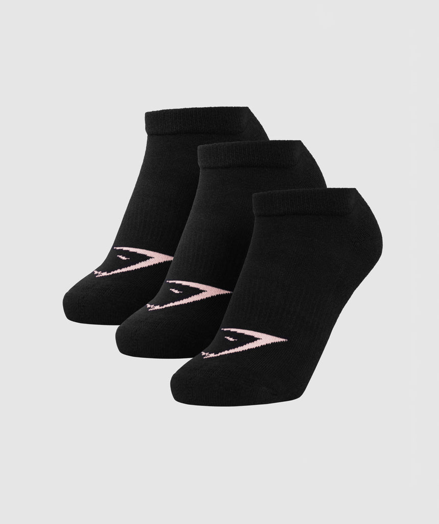 Gymshark Womens Ladies Trainer Sock (3pk) - Black 1