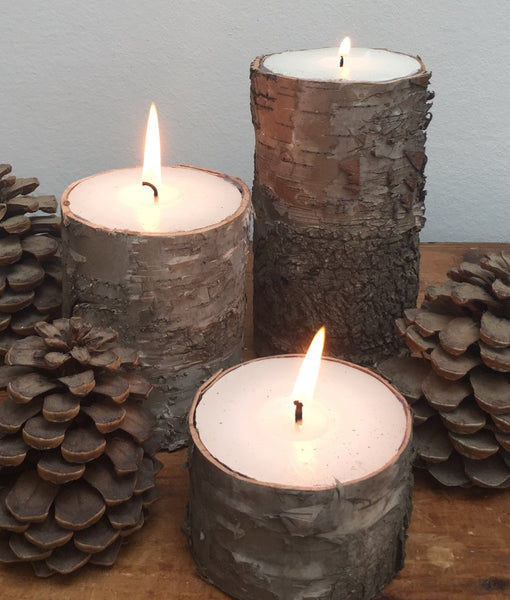 Bark Block Candle