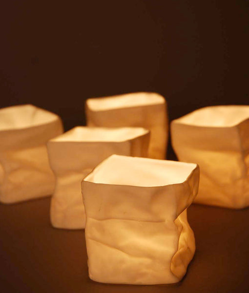 Ceramic 'Paper Bag' - Small