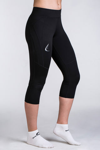Women's Classic Black 3/4 Gym Tights