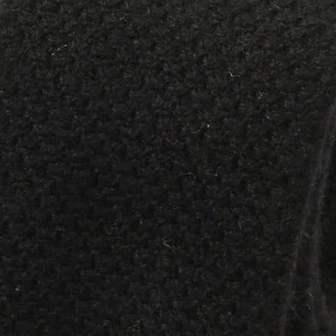Black Wool Knitted Tie