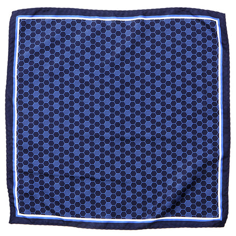 Blue Shaded Pocket Square